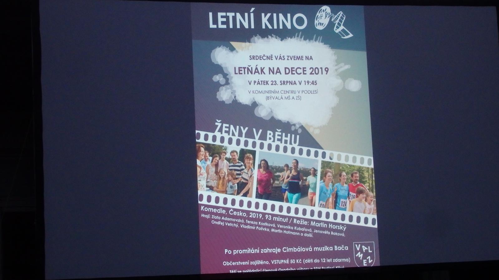 Letní kino na dece
