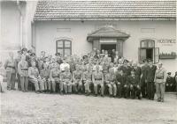 """Slavnostní výroční členská schůze u příležitosti oslav 30. výročí založení požárního sboru v1954 na """"Drážkách""""."""
