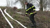 Prověrky funkčnosti protipovodňové hráze na Juřince